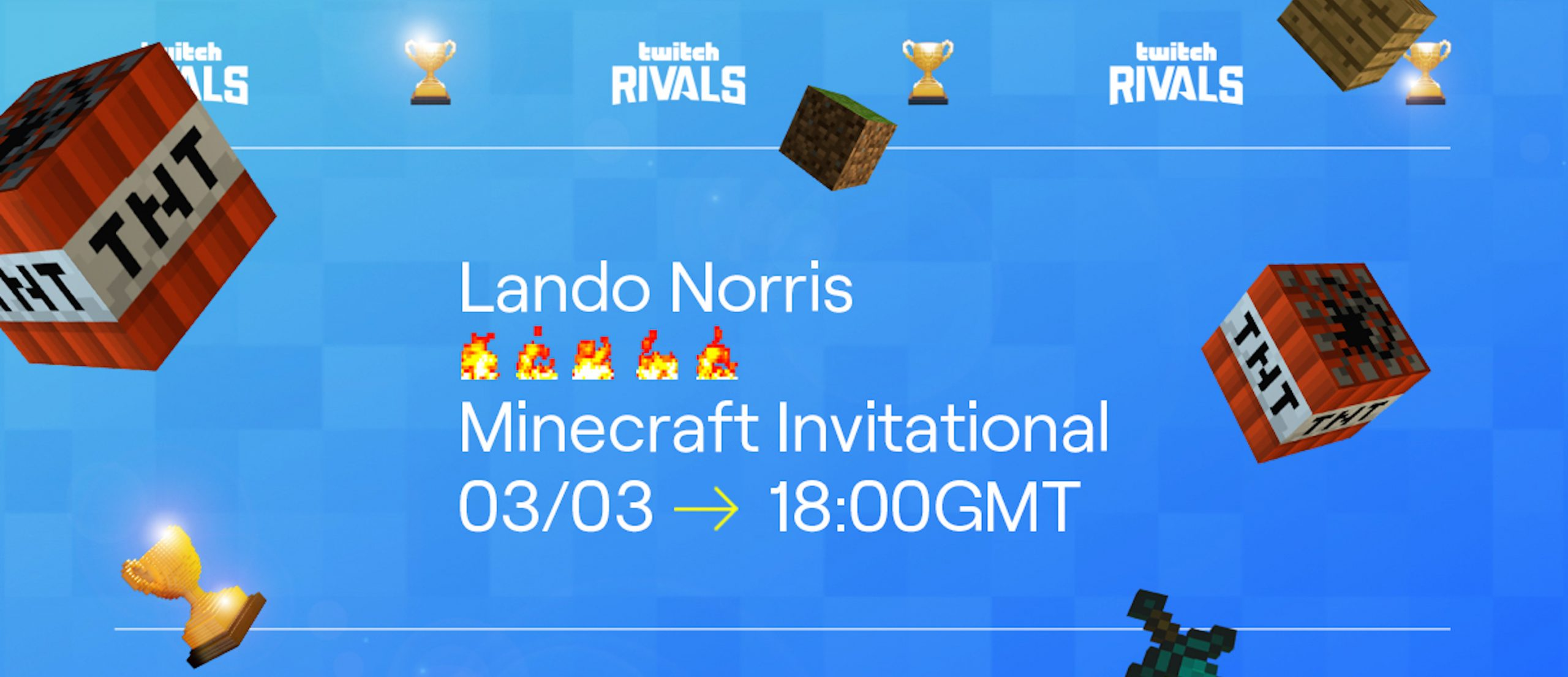 Lando Norris to Feature in Twitch Rivals Minecraft Event
